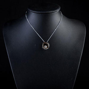 Snake Chain Round Necklace Pendant - KHAISTA Fashion Jewellery