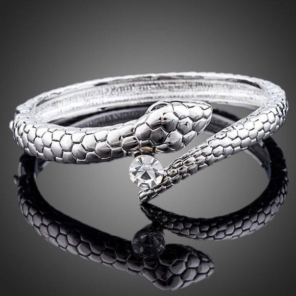 Snake Design Bangle - KHAISTA Fashion Jewellery