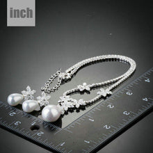Load image into Gallery viewer, Snow White Pearl with Petals Earrings and Pendant Necklace Set - KHAISTA Fashion Jewellery
