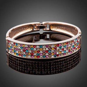 Sparkling Crystals Cuff Bangle - KHAISTA Fashion Jewellery