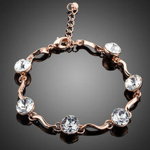 Load image into Gallery viewer, Sparky Round Crystal Bracelet - KHAISTA Fashion Jewellery