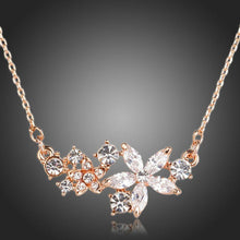 Load image into Gallery viewer, Star Flower Cubic Zirconia Necklace KPN0134 - KHAISTA Fashion Jewellery