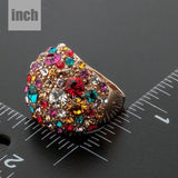 Star Shaped Multicolour Ring - KHAISTA Fashion Jewellery