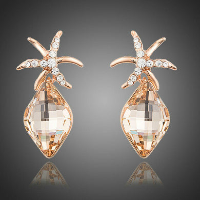 Starfish Shaped Rhinestone Drop Earrings - KHAISTA Fashion Jewellery