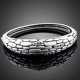 Stone Wall Design Crystal Bangle - KHAISTA Fashion Jewellery