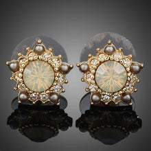 Load image into Gallery viewer, Sunflower Design Stud Earrings - KHAISTA Fashion Jewellery