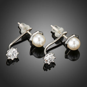 Synthetic Pearl Stud Earrings - KHAISTA Fashion Jewellery