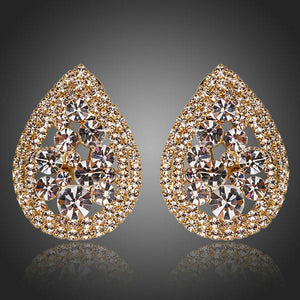 Teardrop Design Stud Earrings -KPE0130 - KHAISTA Fashion Jewellery