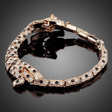 Load image into Gallery viewer, Tiger Bite Design Crystal Bracelet - KHAISTA Fashion Jewellery