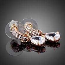 Load image into Gallery viewer, Transparent Cubic Zirconia Raindrop Earrings - KHAISTA Fashion Jewellery