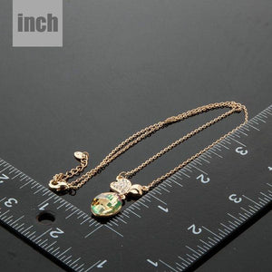 Two Leaf Clover Necklace KPN0111 - KHAISTA Fashion Jewellery