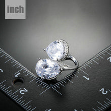 Load image into Gallery viewer, Unique Clear Cubic Zirconia Water Drop Ring - KHAISTA Fashion Jewellery