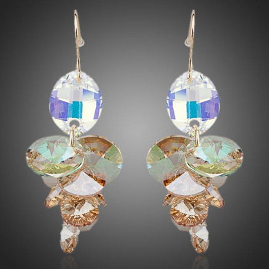 Unique Stellux Austrian Crystal Drop Earrings -KPE0083 - KHAISTA Fashion Jewellery
