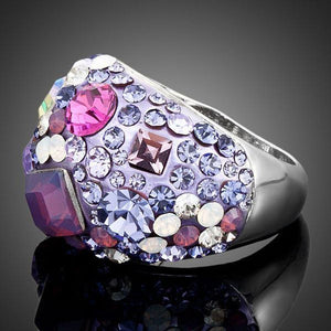 Wedding Occasion Crystal Ring for Ladies - KHAISTA Fashion Jewellery