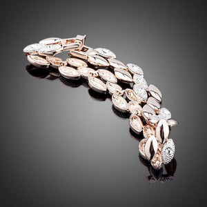 Wheat Design Figaro Chain Bracelet - KHAISTA Fashion Jewellery
