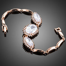 Load image into Gallery viewer, White Cubic Zirconia Link Chain Bracelet - KHAISTA Fashion Jewellery