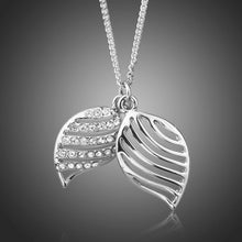 Load image into Gallery viewer, White Gold Angel Wings Stellux Austrian Crystals Pendant Necklace - KHAISTA Fashion Jewellery