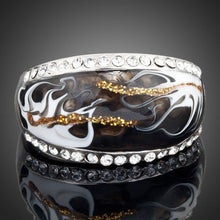 Load image into Gallery viewer, White Gold Crystal Designer Ring -KFR0013 - KHAISTA