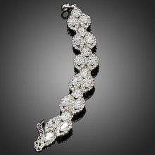 Load image into Gallery viewer, White Gold Plated Cubic Zirconia Tennis Bracelet - KHAISTA Fashion Jewellery