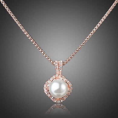 White Pearl Pendant Necklace - KHAISTA Fashion Jewellery