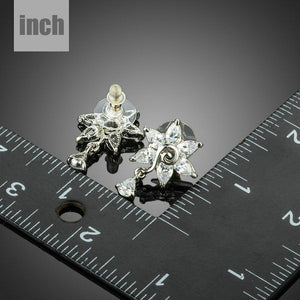 White Rose Cubic Zirconia Water Drop Earrings - KHAISTA Fashion Jewellery
