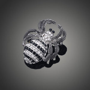 Wolf Spider Crystal Brooch Pin - KHAISTA Fashion Jewellery