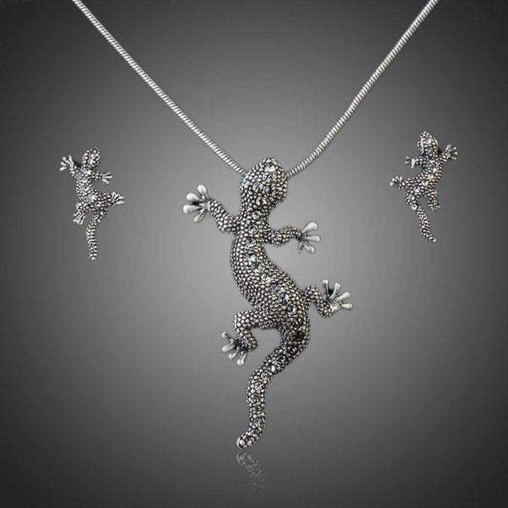 Women's Gecko Jewelry Set - KHAISTA Fashion Jewellery