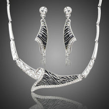 Load image into Gallery viewer, Zebra Drop Earrings & Pendant Necklace Set - KHAISTA Fashion Jewellery
