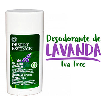 Desodorante Lavanda + Tea Tree en barra