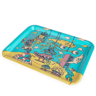 420 Science x Killer Acid Rolling Tray - Head in the Clouds - a Rolling Trays, from Killer Acid - find at 420Science.com