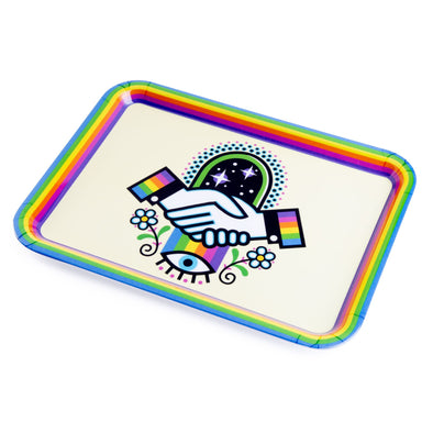 420 Science x Winston the Whale Rolling Tray - Handshake