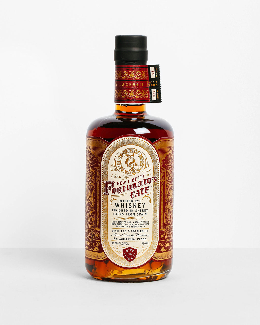 New Liberty Distillery Fortunato's Fate Malted Rye Whiskey
