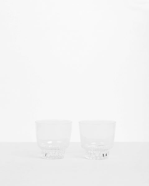 Ridge Kitchen Glasses - Clear
