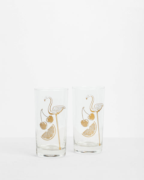 Love & Victory - Flamingo Glass Set