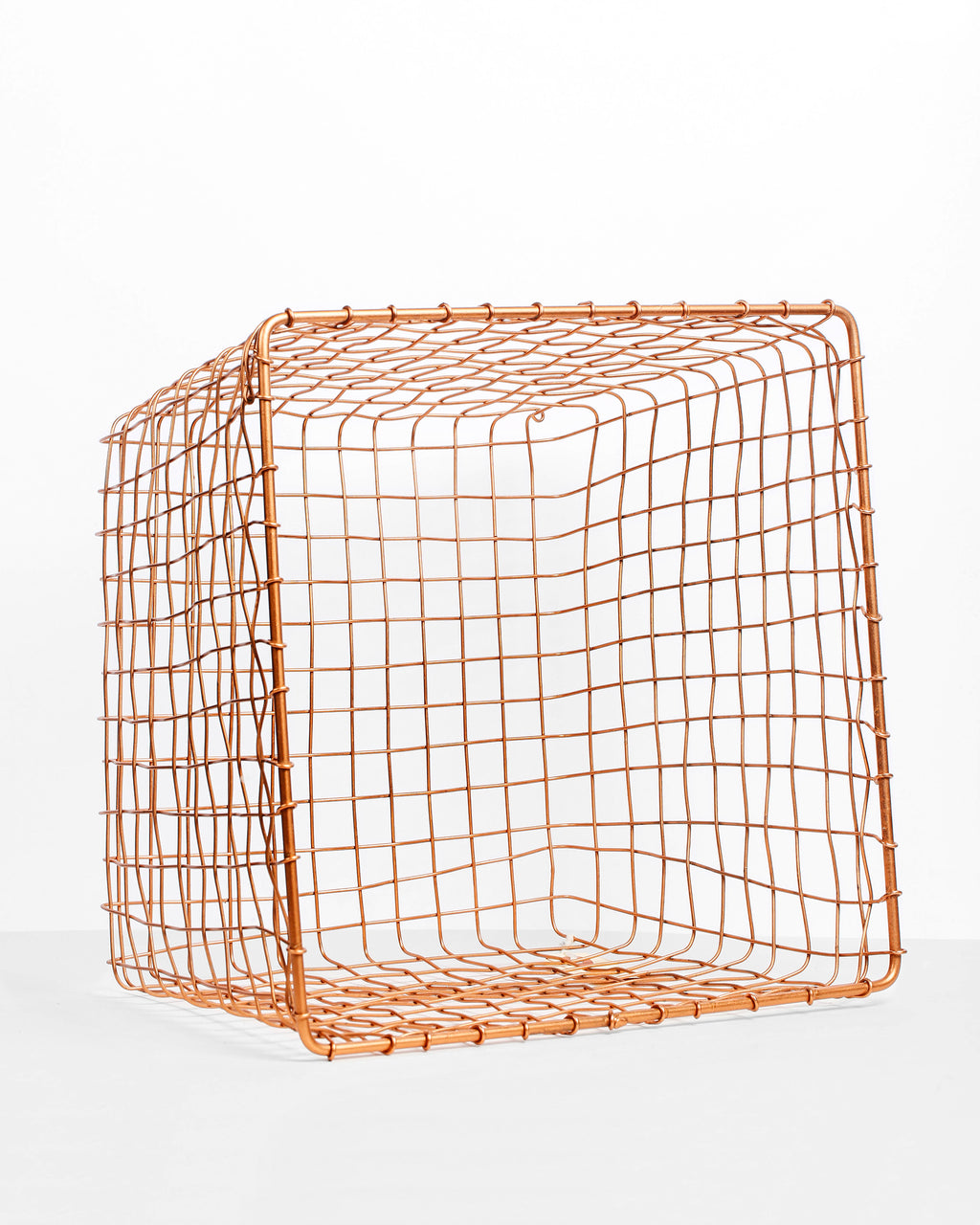 Large Copper Wire Basket