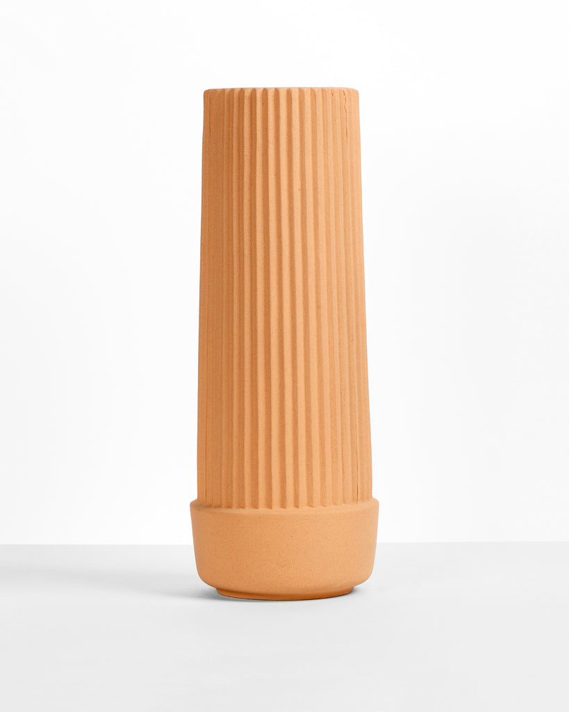 Pleated Tall Planter