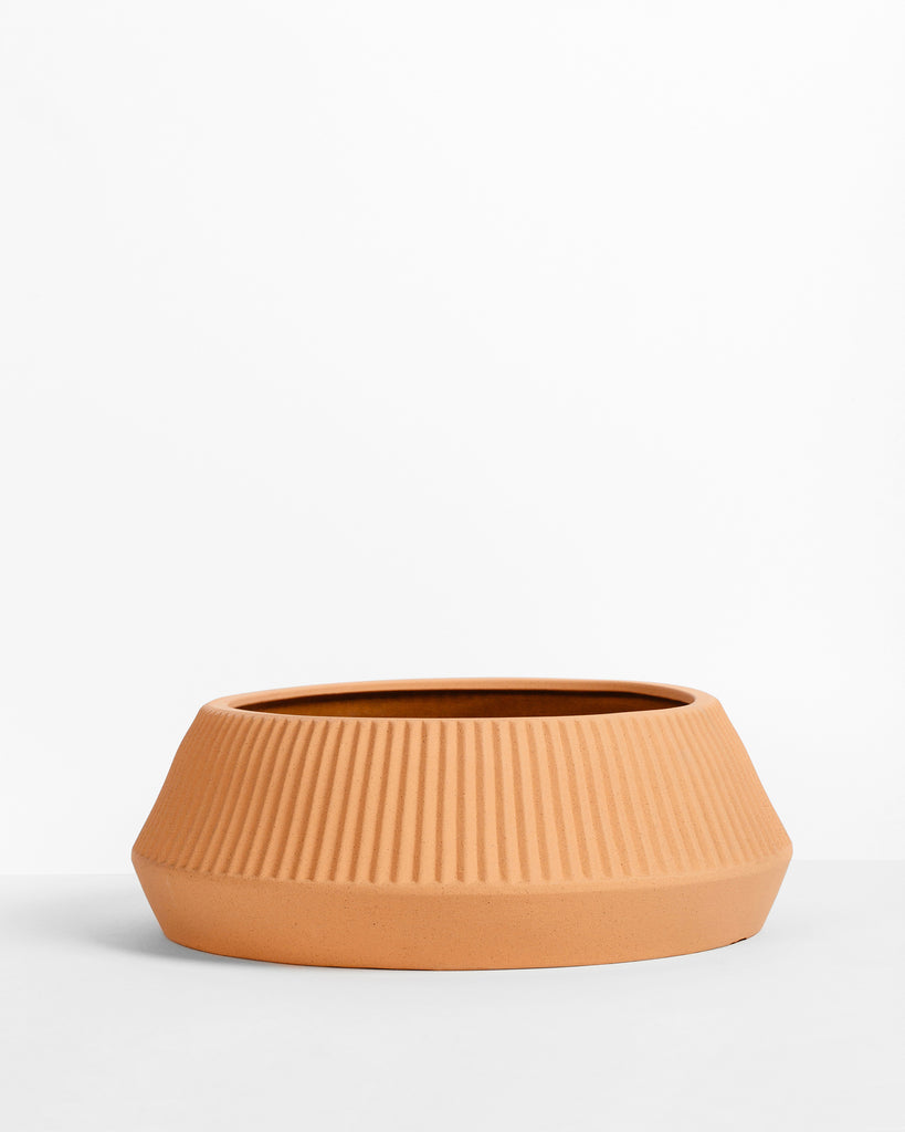 Pleated Shallow Planter