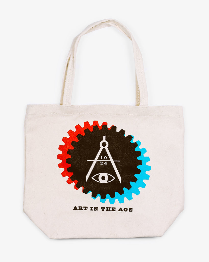 AITA Tote Bag - Natural 3D Gear Logo
