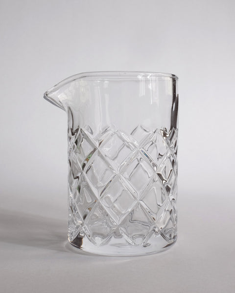 Diamond Pattern Mixing Glass
