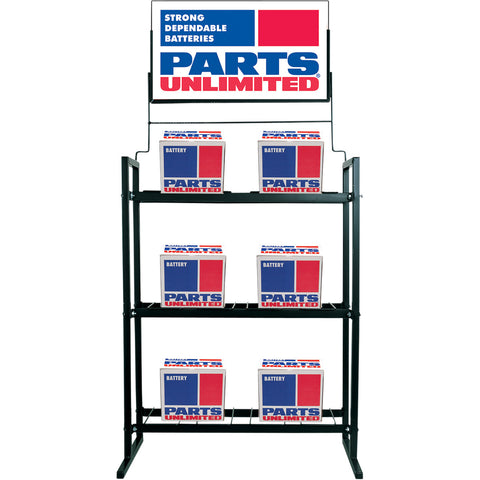 Parts Unlimited Battery Display Rack