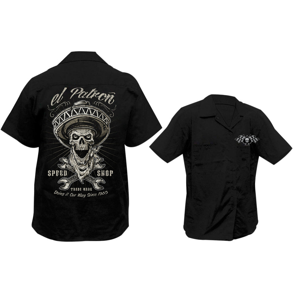 Lethal Threat El Patron Screen Printed Workshirt