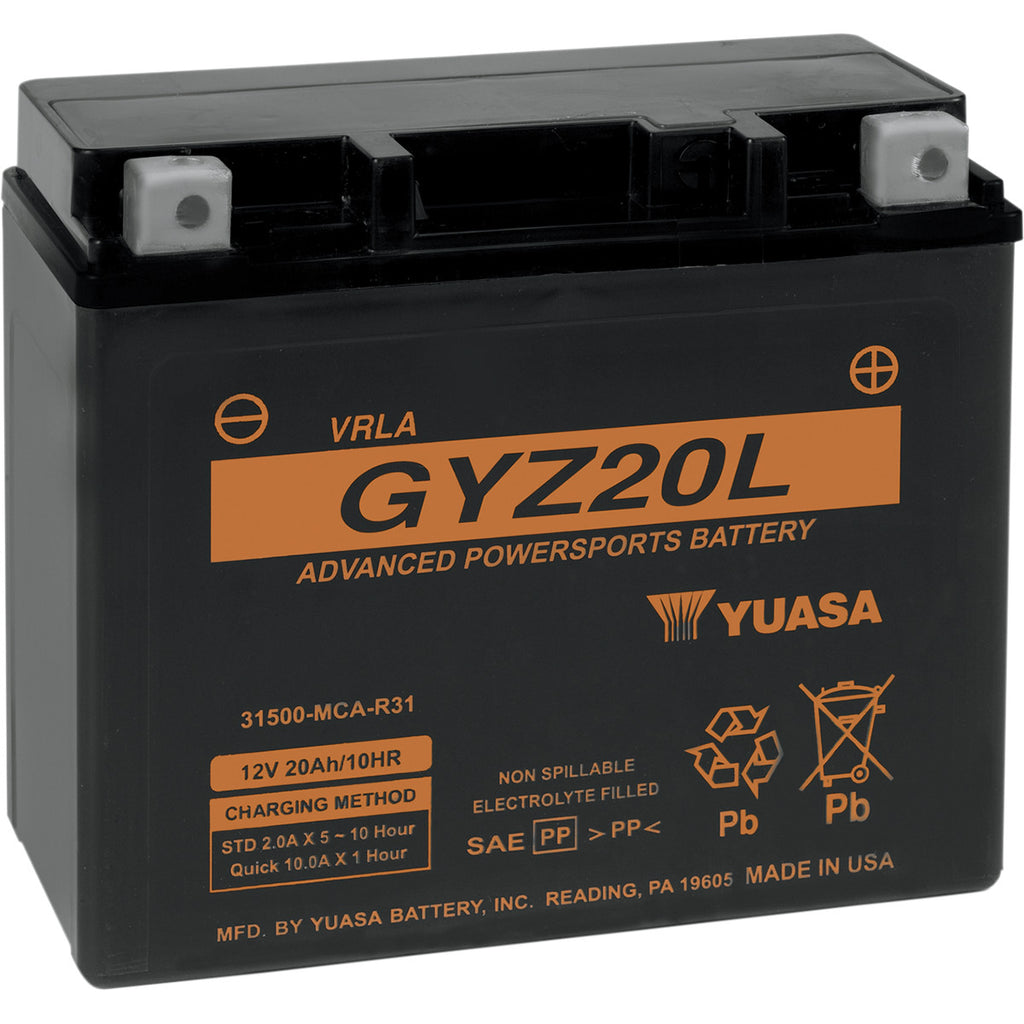 Yuasa GYZ Factory- Activated AGM Maintenance Free Battery