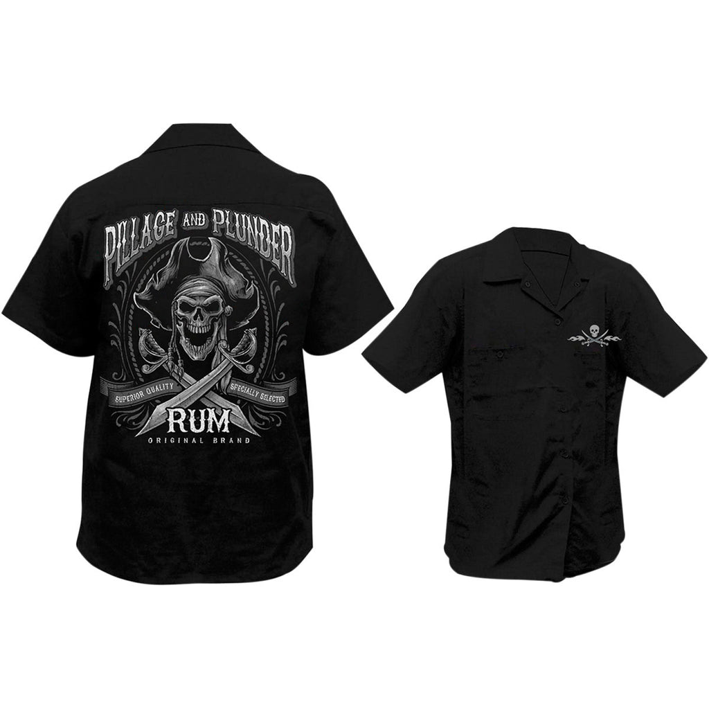 Lethal Threat Pillage and Plunder Screen Printed Workshirt