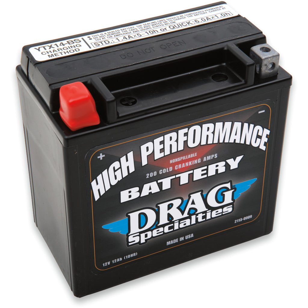 DRAG SPECIALITIES 12V High Performance Battery