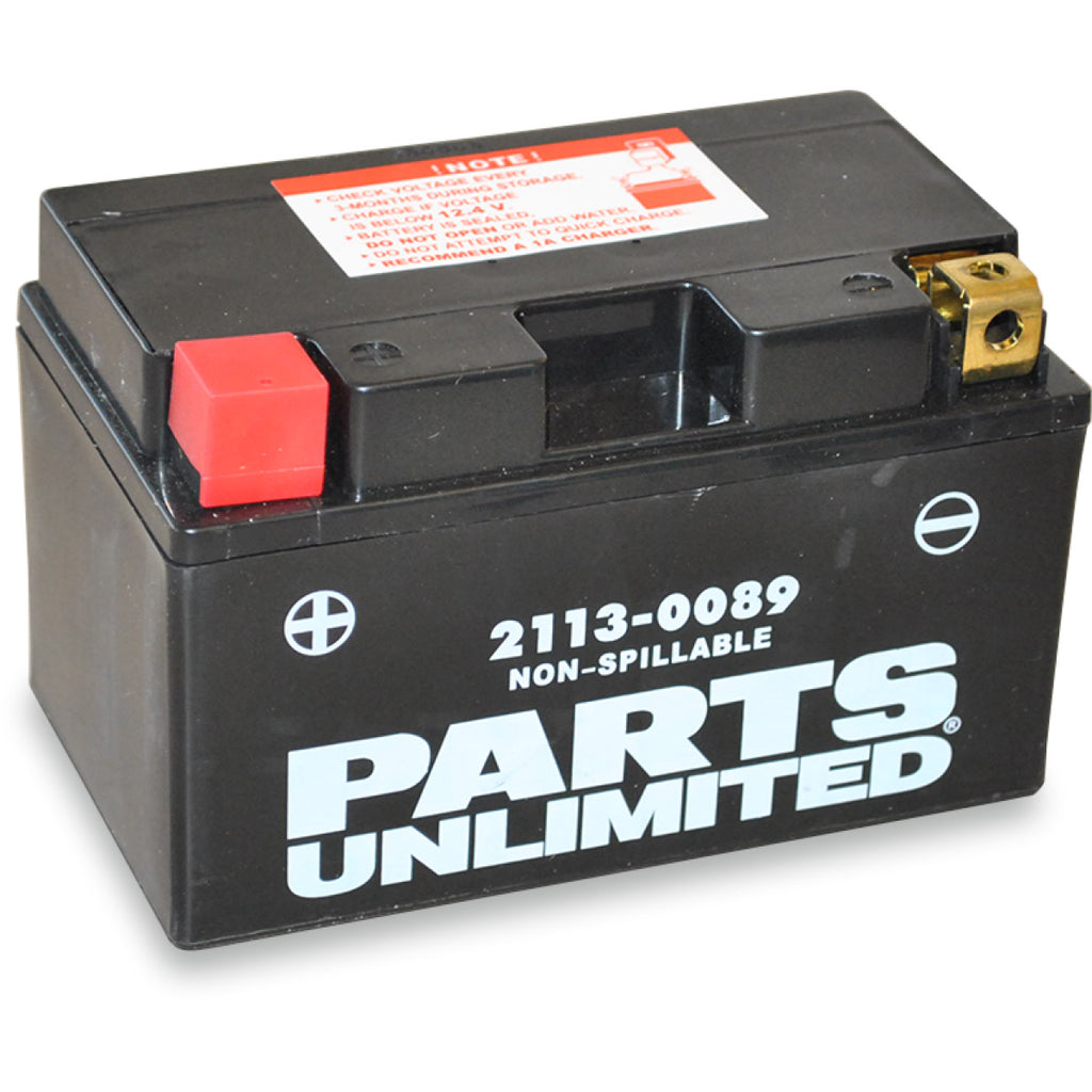 Parts Unlimited Factory- Activated AGM Maintenance Free Batteries