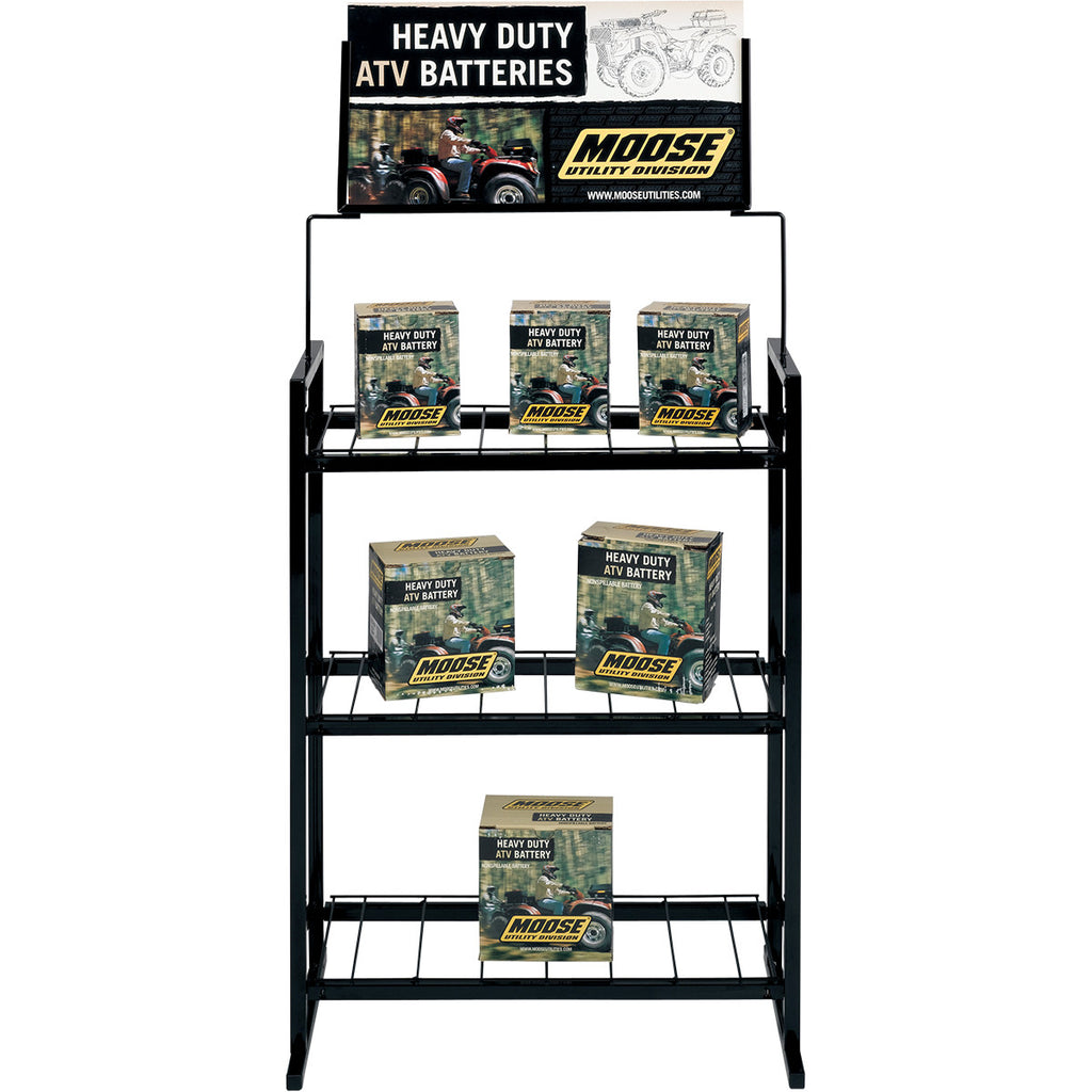 Moose Utility Division Battery Display Rack