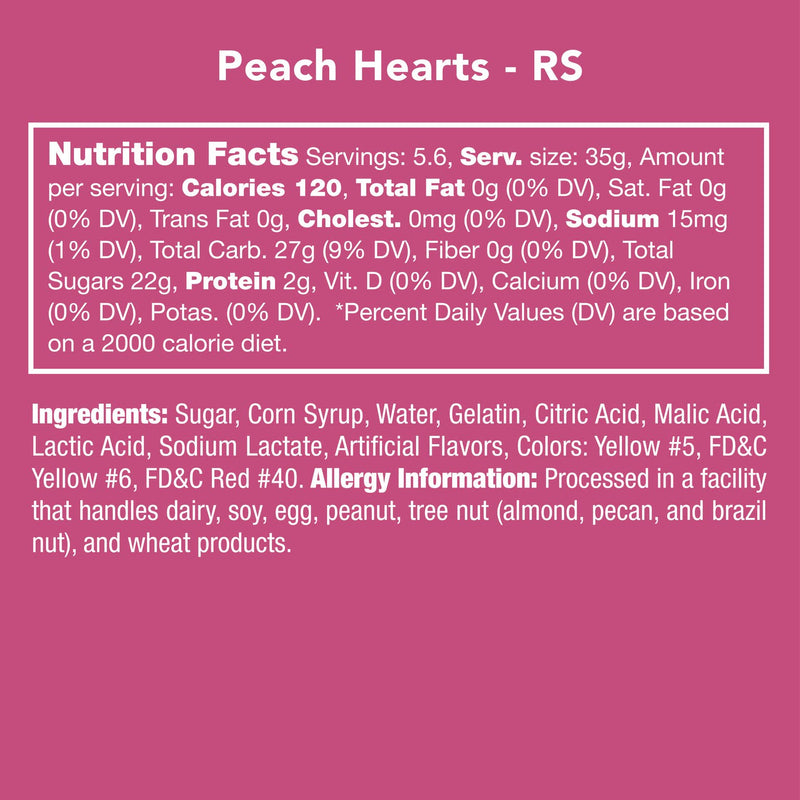 Peach Hearts - dolly mama boutique