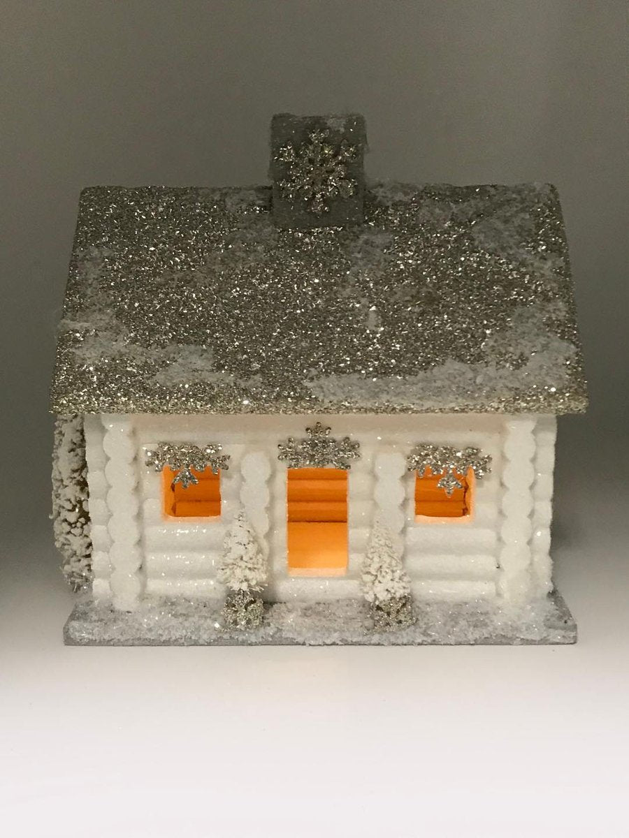 White Log Cabin - Large - dolly mama boutique