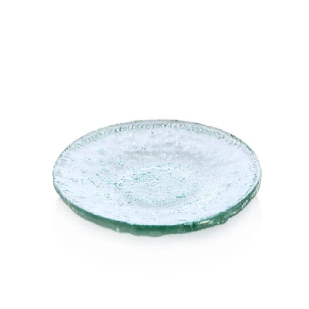 Clear Rustic Round Serving Platter - dolly mama boutique
