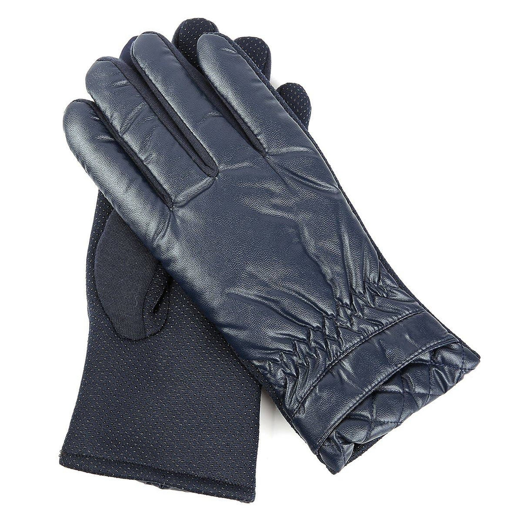 Navy Aspen Etip Gloves - dolly mama boutique
